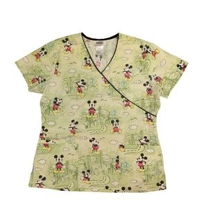 Disney Mickey Mouse Womens SZ Small Scrub top M